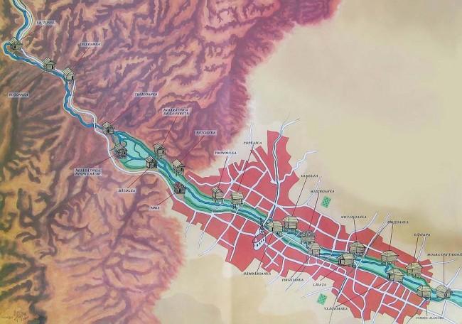 Harta Complexului de mori cu apă de la Rudăria