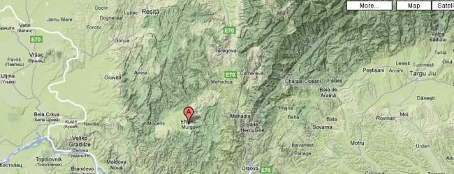 Harta spre Eftimie Murgu/ Rudăria (localizare)