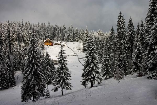 Munte și zăpadă