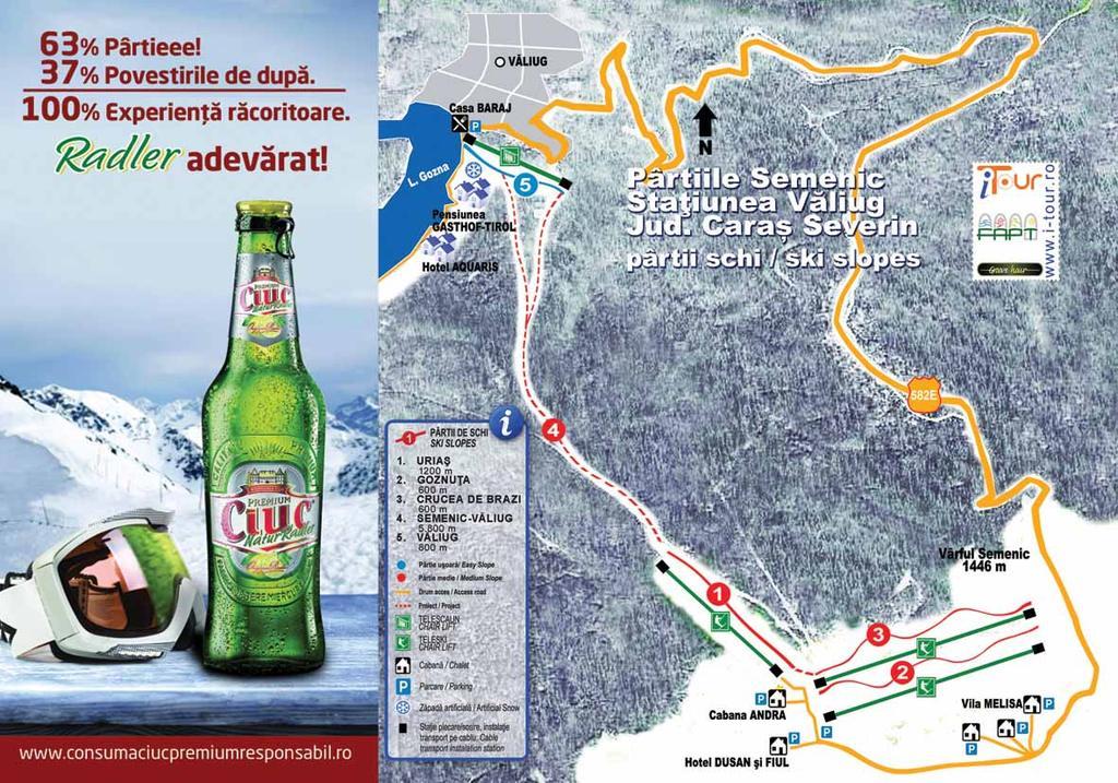 Harta partii ski semenic webcam