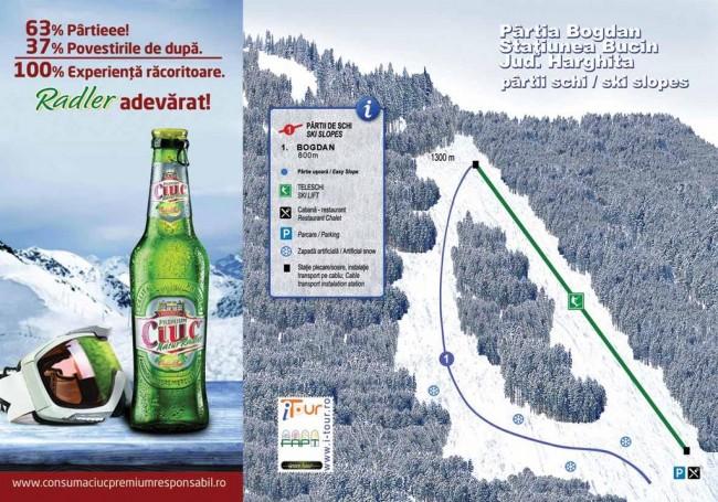 Harta partii schi Bogdan, Bucin, Harghita