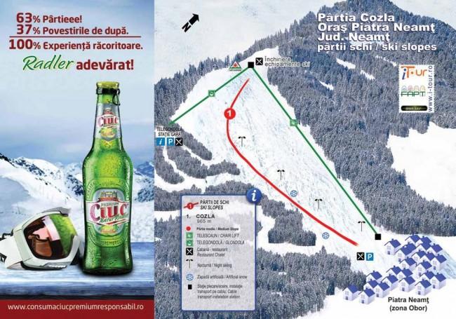 Harta partii schi Cozla, Piatra Neamt, Neamt