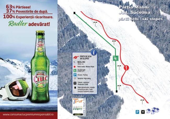 Harta partii schi Malini, Suceava