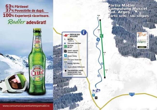Harta partii schi Mățău, Campulung, Arges