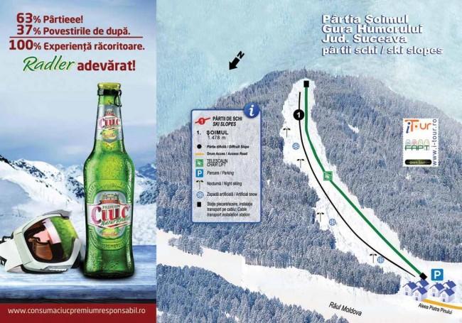 Harta partii schi Soimul Gura Humorului, Suceava
