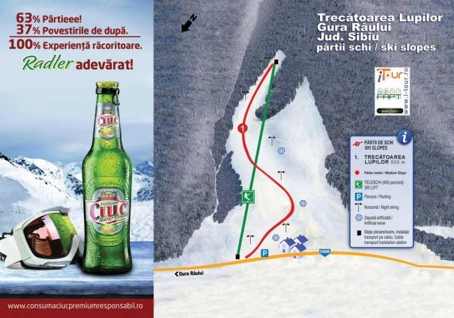 Harta partii schi Trecatoarea Lupilor, Sibiu