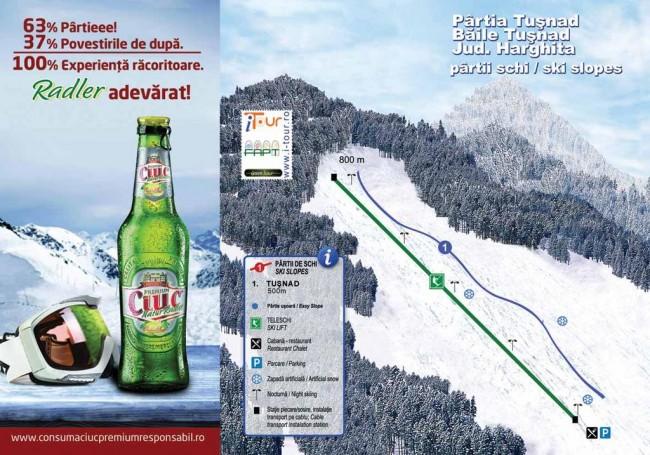 Harta partii schi Tusnad, Harghita