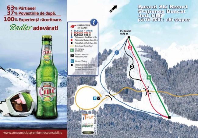 Harta partii schi Baisoara, Buscat, Cluj