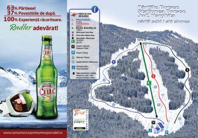 Harta partii schi Borsec, Harghita