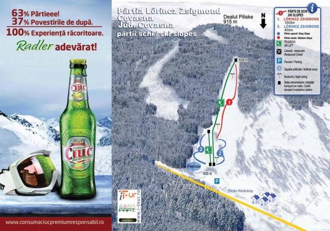 Harta partii schi Covasna, Covasna