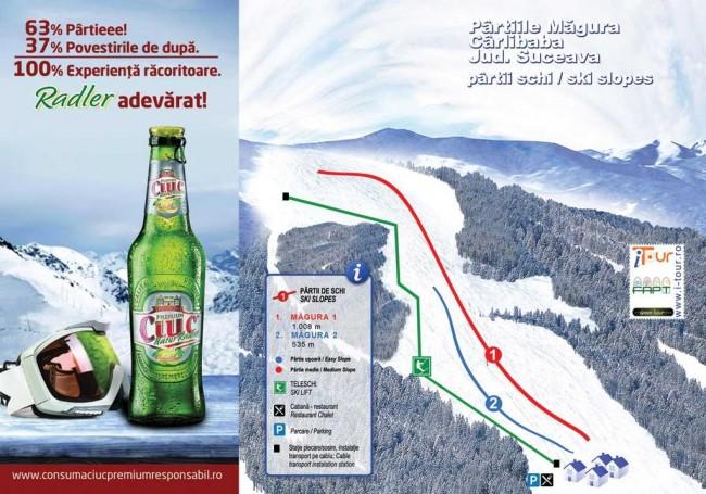 Harta partii schi Magura, Carlibaba, Suceava
