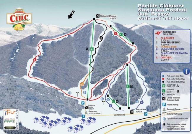 Harta partii schi Predeal, Brasov