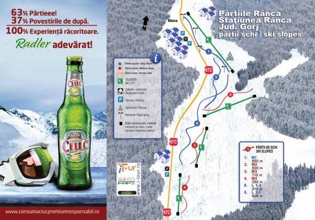 Harta partii schi Ranca, Gorj