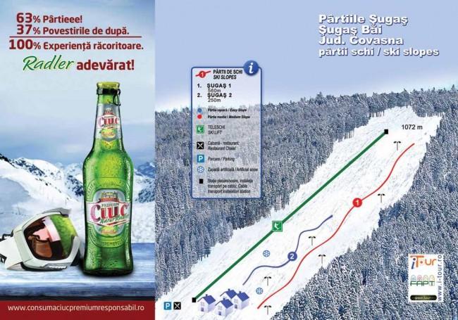 Harta partii schi Sugas Bai, Covasna
