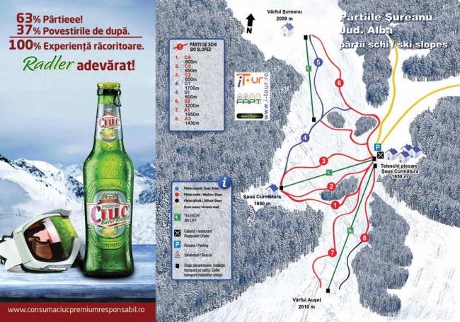 Harta pârtii schi Șureanu, Alba
