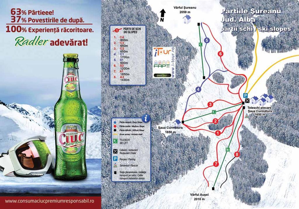 Hărțile Partiilor De Ski Din Romania