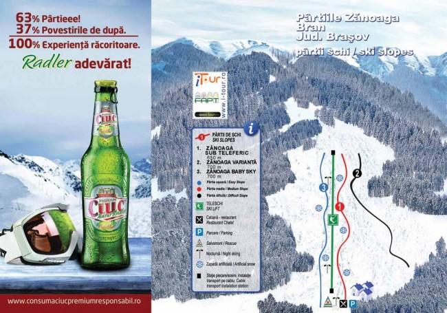 Harta partii schi Zanoaga, Bran, Brasov