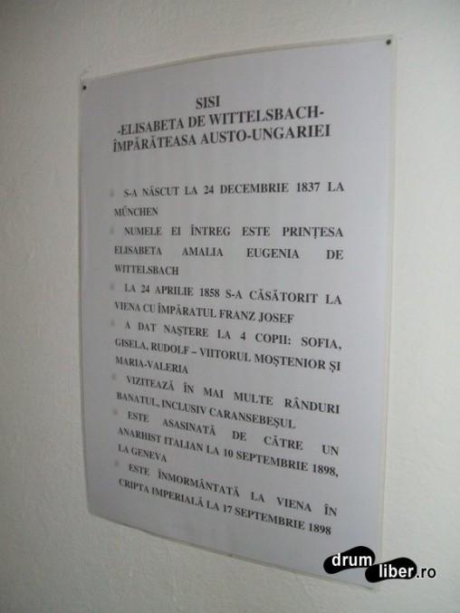 Câteva date despre Sisi în Muzeul din Caransebeș