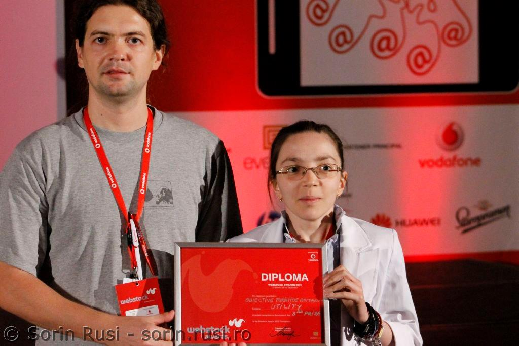 Cu Andrea pe scena Webstock