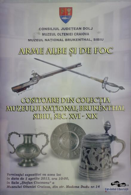 Afișul expoziției Arme albe și de foc & obiecte din cositor
