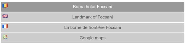Site-ul cu informații despre Piatra de Hotar din Focșani