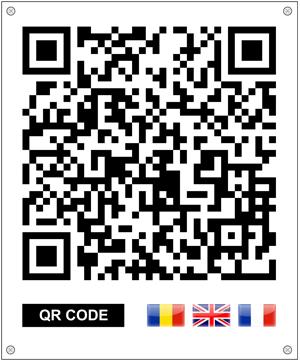Cod QR pentru borna de hotar Focșani, Vrancea
