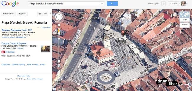 Google Maps 45 grade Brasov