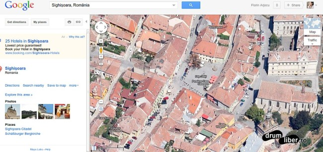 Google Maps 45 grade Sighișoara