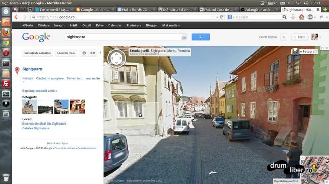 Google Maps Street View - Sighișoara (vedere din stradă)