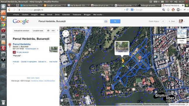 Google Maps Street View - București - Parcul Herăstrău