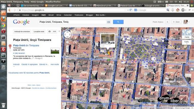 Google Maps Street View - Timișoara - Zona Unirii
