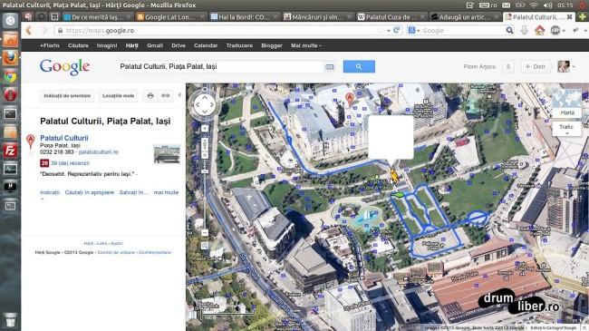 Google Maps Street View - Iași (alei parc Palas)