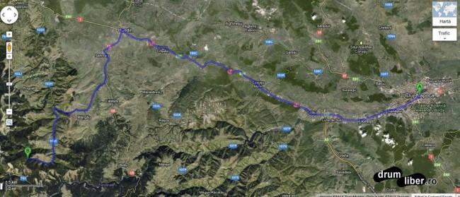 Harta spre Cascada Vălul Miresei (Cascada Răchițele)