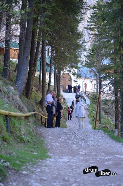 Aleea către Peștera și Mănăstirea Ialomiței