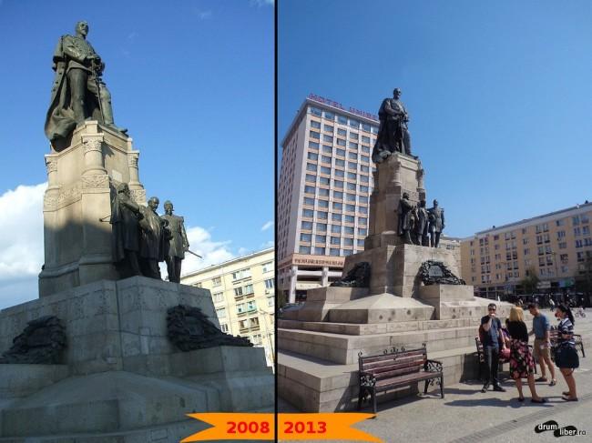 Piața Unirii - statuia lui Cuza (2008 - 2013)