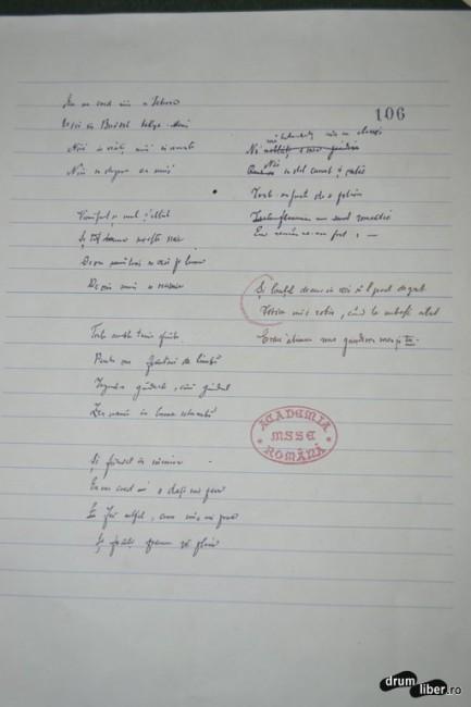 Copii după manuscrisele poetului