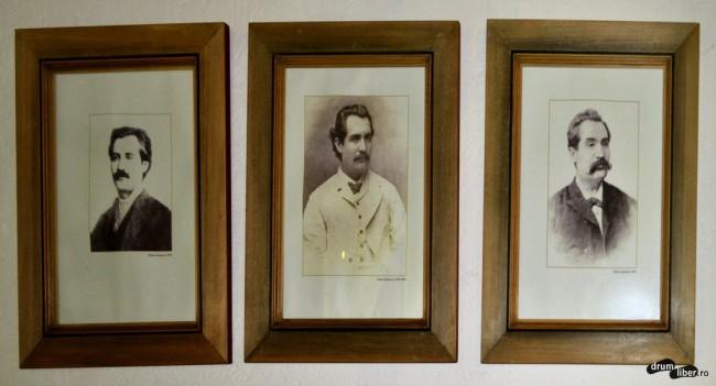 Poetul la diferite vârste (de la stânga spre dreaptă)