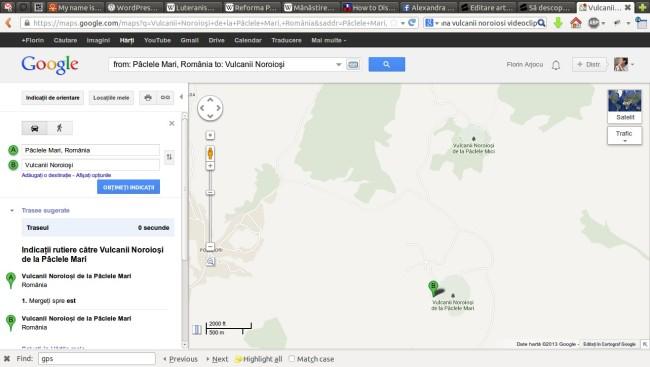 Vulcanii Noroioși de la Pâclele Mari către Vulcanii Noroioși de la Pâclele Mari - Hărţi Google (corect)