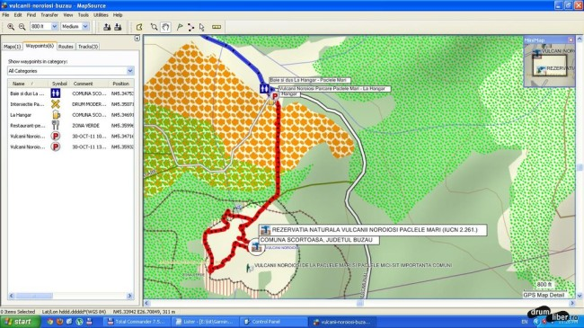 Pâclele Mari corecte (GPS)