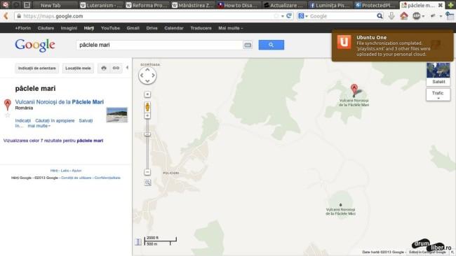 Pâclele Mari și Mici inverstate incorect (Google Maps)