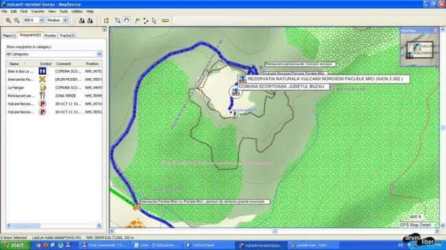 Pâclele Mici corecte (GPS)