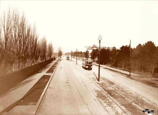 Doua tramvaie electrice pe bulevardul Mărăști (1930)