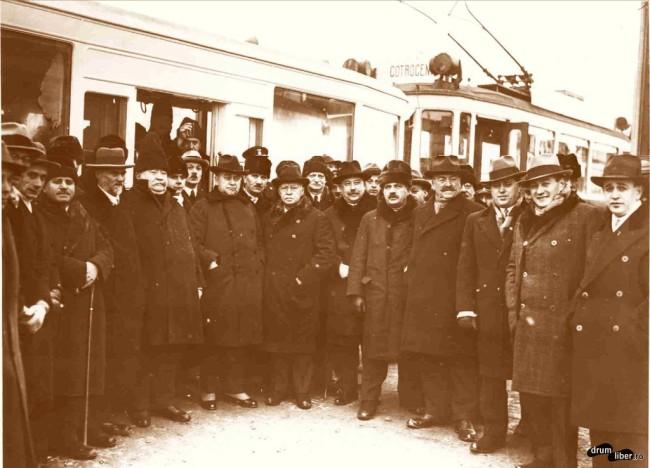 Inaugurarea liniei Hipodrom (tramvai electric), 1929