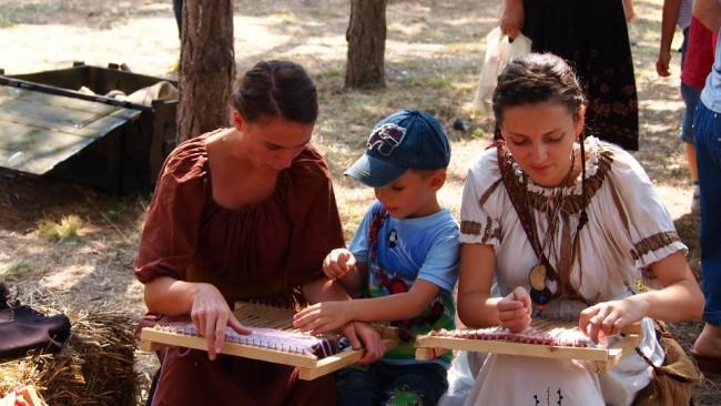 Atelierul de țesătorie la Festivalul Antic Tomis 2012