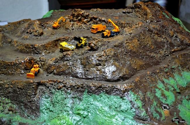 Machetă cu zăcământul aurifer de la Roșia Montană