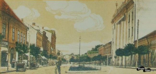 Actuala strada 22 decembrie 1989 dupa ridicarea Palatului Postei - foto 1916