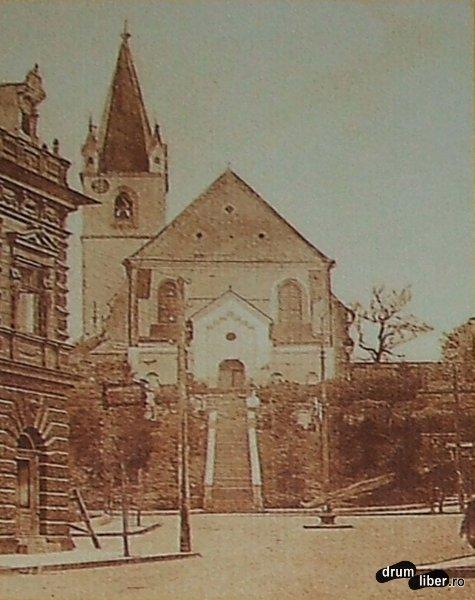 Biserica Reformata Calvinista e cea mai veche biserica si cuprinde fosta manastire 1350-1450 - foto 1909