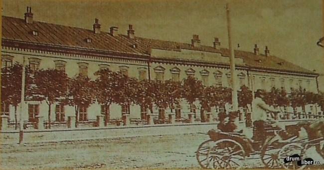 Fosta cazarma de pe actuala Strada Horea astazi sediu grupului de pompieri - foto 1909