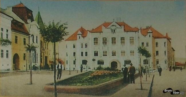 Liceul Calvinist sau Reformat finalizat 1909 - astazi colegiul Bolyai Farkas - foto 1919