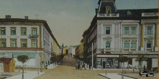 Strada Bolyai Farkas intre centru si Liceul Reformat - foto 1929